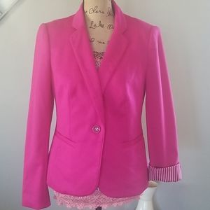 The Limited Hot Pink Blazer Chic